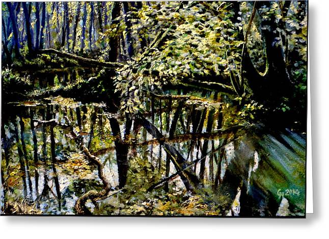 Lubianka-4 Mystery Of Swamp Forest Greeting Card by Henryk Gorecki