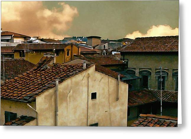 Lucca At Dusk Greeting Card