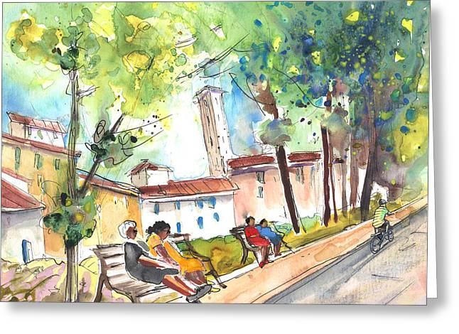 Lucca In Italy 03 Greeting Card by Miki De Goodaboom