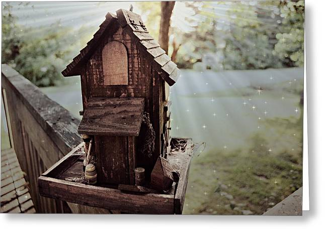 Lucid Bird House Greeting Card