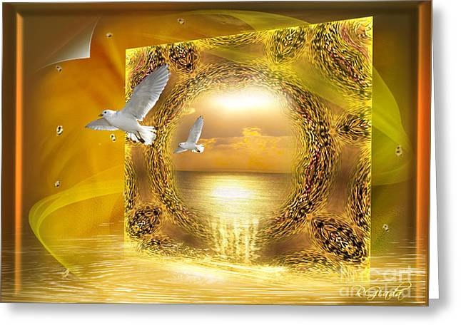 Greeting Card featuring the digital art Lucid Dream - Surreal Art By Giada Rossi by Giada Rossi