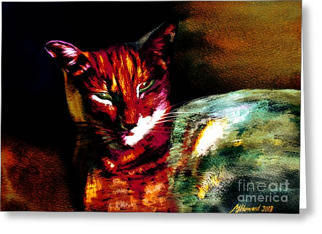 Lucifer Sam Tiger Cat Greeting Card