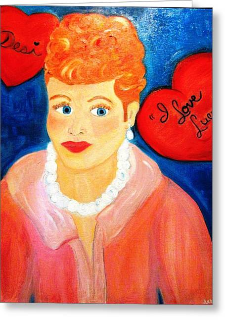 Lucile Ball Greeting Card