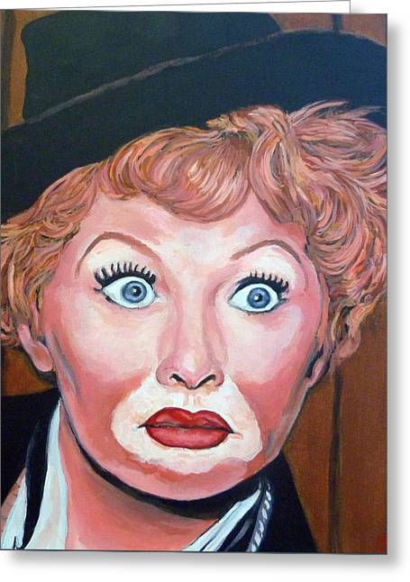 Lucille Ball Greeting Card by Tom Roderick