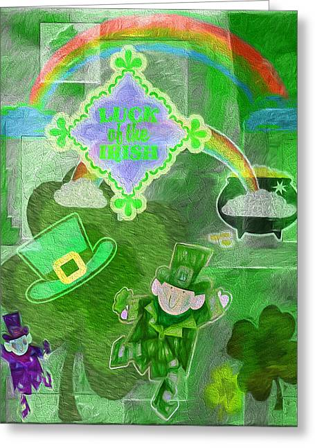 Luck Of The Irish - Painterly Collage Greeting Card