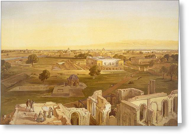 Lucknow, From India Ancient And Modern Greeting Card by William 'Crimea' Simpson