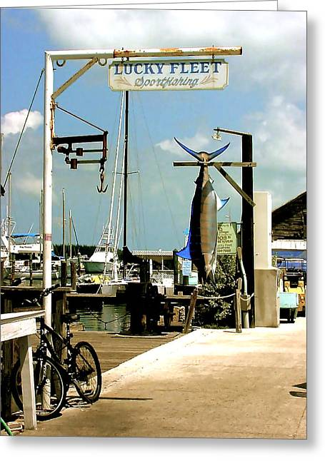 Lucky Fleet Key West  Greeting Card