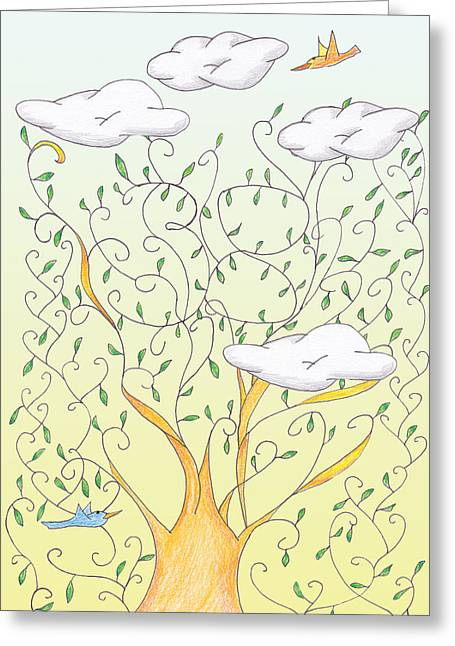Lucky Number 38 Tree Greeting Card