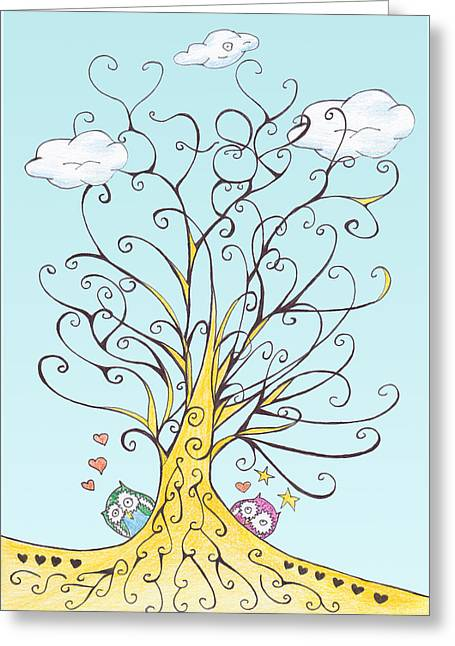 Lucky Number 78 Tree Greeting Card