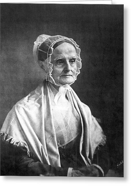 Lucretia Coffin Mott(1793-1880) Greeting Card by Granger
