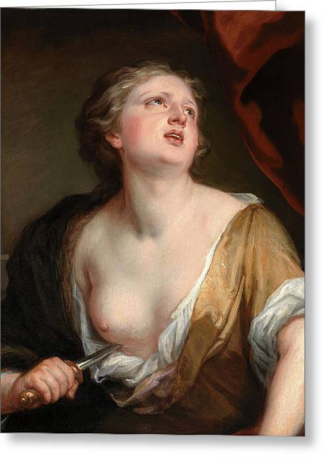 Lucretia, Sir Godfrey Kneller, 1646-1723 Greeting Card