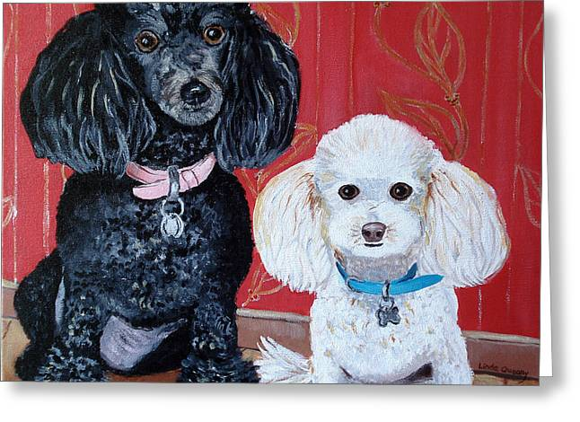 Lucy And Leopold Greeting Card by Linda Queally