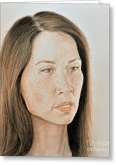 Lucy Liu Natural Beauty Greeting Card