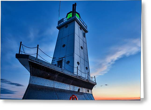Ludington Lighthouse Greeting Card by Sebastian Musial