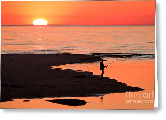 Ludington State Park Sunset Greeting Card by Twenty Two North Photography