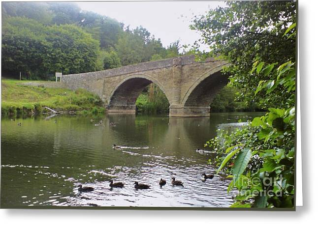 Greeting Card featuring the photograph Ludlow Bridge by John Williams