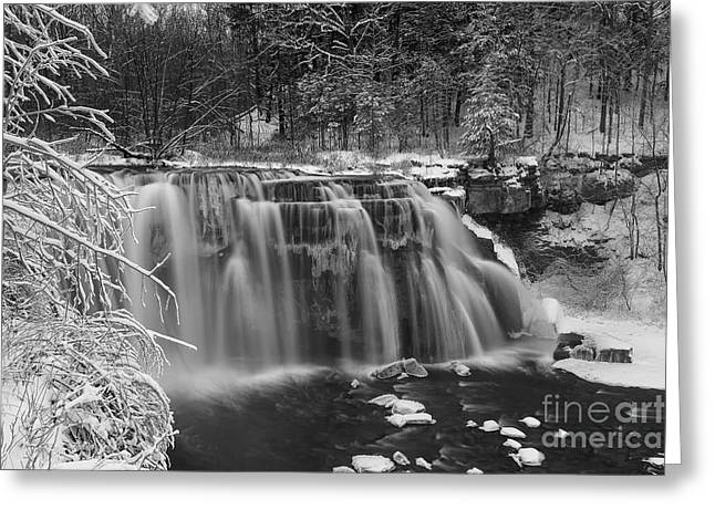 Ludlowville Falls In Winter I Greeting Card by Michele Steffey