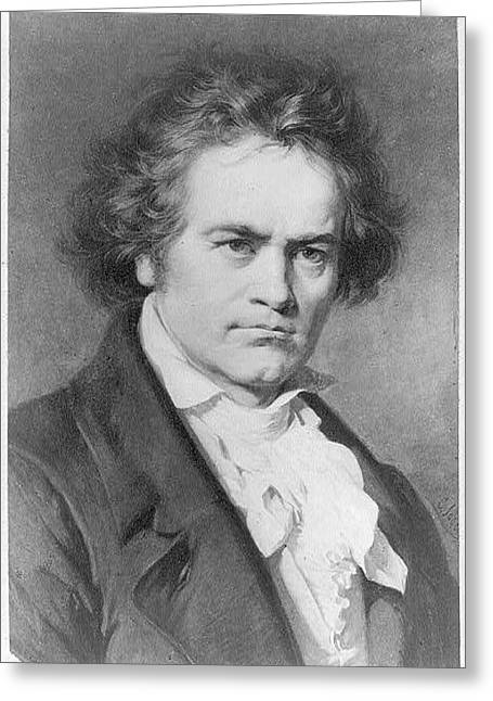Ludwig Van Beethoven Greeting Card by MotionAge Designs