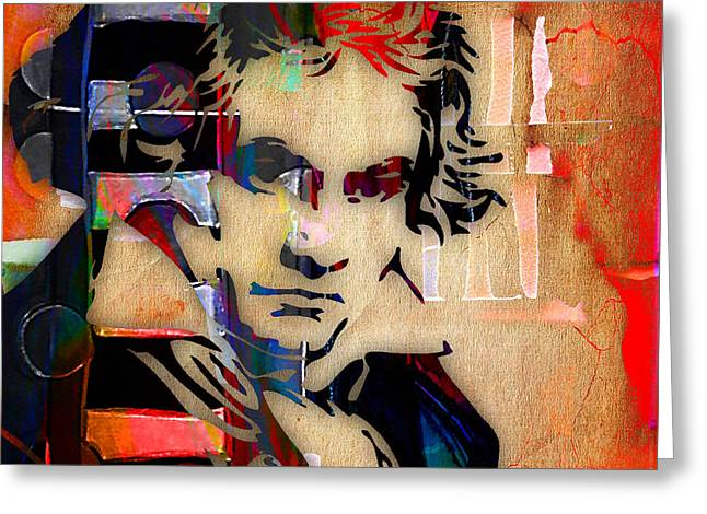 Ludwig Van Beethoven Collection Greeting Card by Marvin Blaine