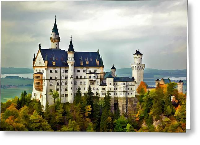 Neuschwanstein Castle In Bavaria Germany Greeting Card