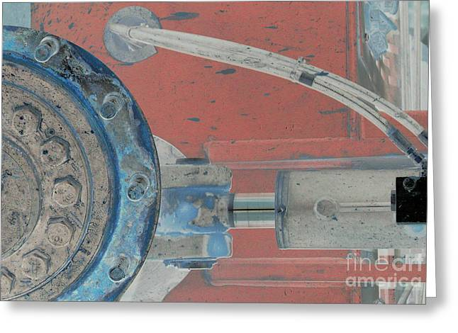 Lug Nut Wheel Left  Greeting Card by Heather Kirk