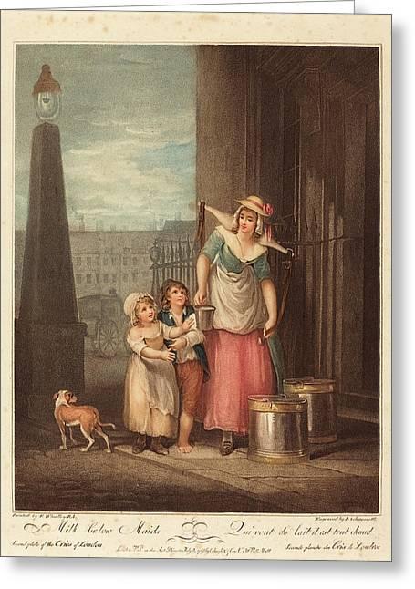 Luigi Schiavonetti After Francis Wheatley Italian Greeting Card by Quint Lox