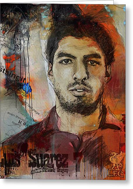 Luis Suarez Greeting Card by Corporate Art Task Force