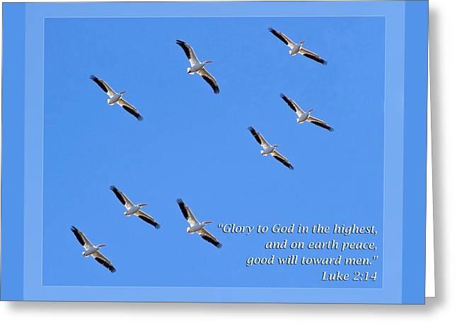 Luke 2 14 Greeting Card by Dawn Currie