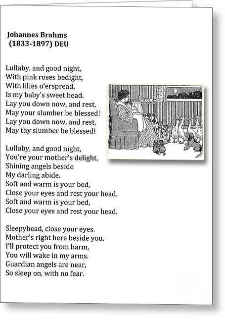 Lullaby And Good Night Greeting Card