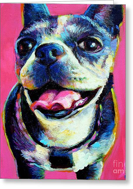 Greeting Card featuring the painting Lulu by Robert Phelps