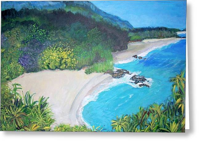 Lumahai Beach In Hawaii Greeting Card