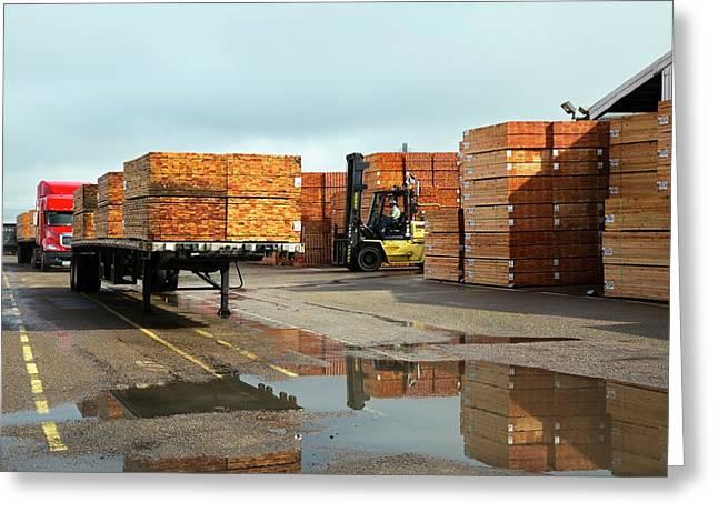 Lumber Cargo Greeting Card