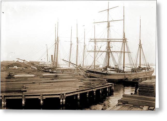 Lumber Wharfs, St Greeting Card by Litz Collection