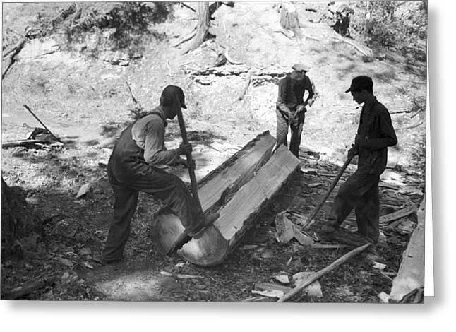 Lumberjacks, 1940 Greeting Card