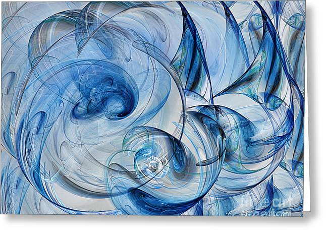 Luminance Washed In Blue Greeting Card