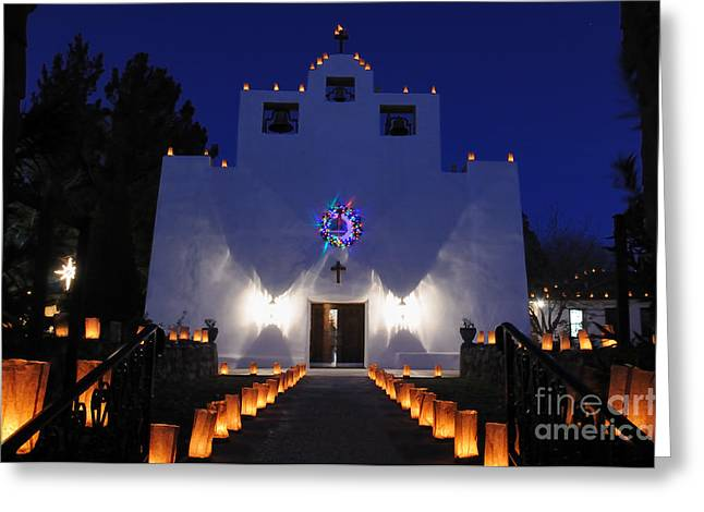 Luminarias At St Francis De Paula Greeting Card