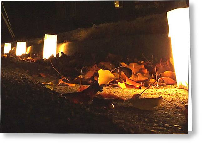 Greeting Card featuring the photograph Luminaries by Andrea Anderegg