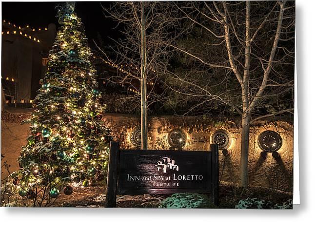 Luminaries In Santa Fe Greeting Card by Dave Dilli