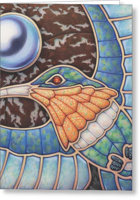 Luminosity - Study In Opal And Pearl Greeting Card by Amy S Turner