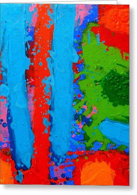 Luminous Blues Greeting Card by John  Nolan