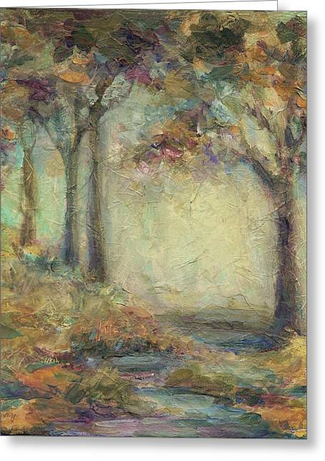 Greeting Card featuring the painting Luminous Landscape by Mary Wolf