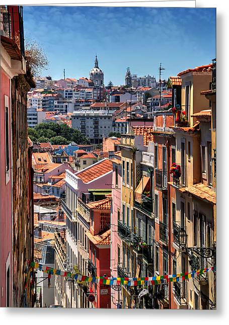 Luminous Lisbon Greeting Card