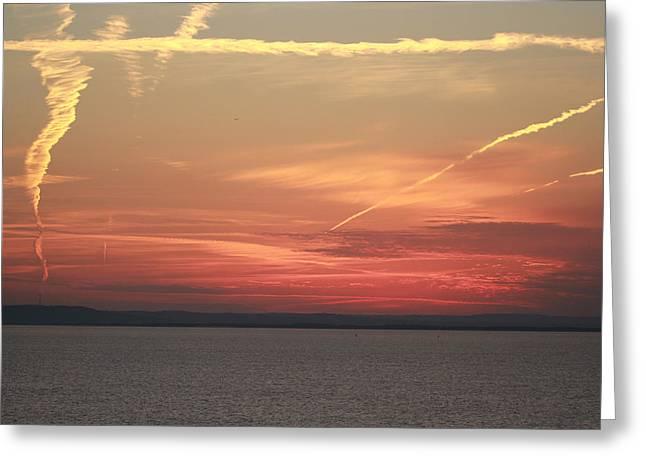Luminous Sunset Greeting Card