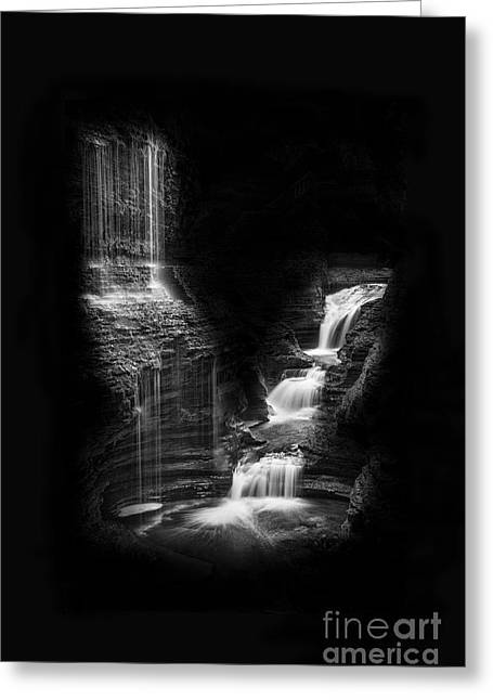 Luminous Waters Iv Greeting Card by Michele Steffey