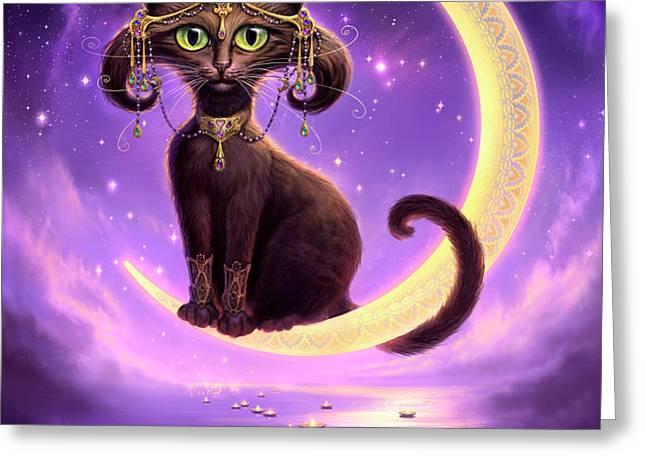 Luna Greeting Card by Jeff Haynie