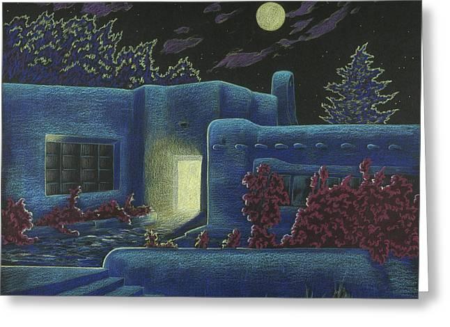 Luna Luz Greeting Card by Charles Luna