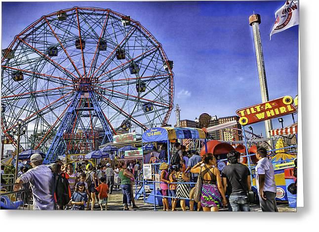 Luna Park 2013 - Coney Island - Brooklyn - New York Greeting Card by Madeline Ellis