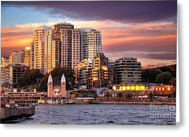 Luna Park At Golden Hour By Kaye Menner Greeting Card by Kaye Menner
