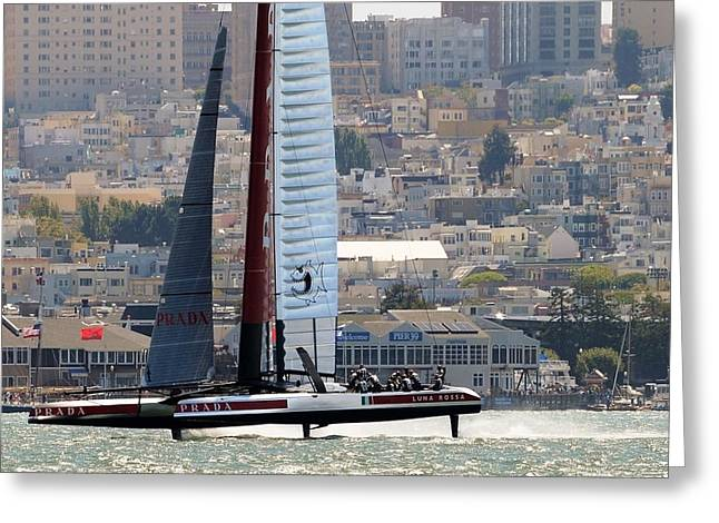 Luna Rossa Series Lv 2013 A Greeting Card