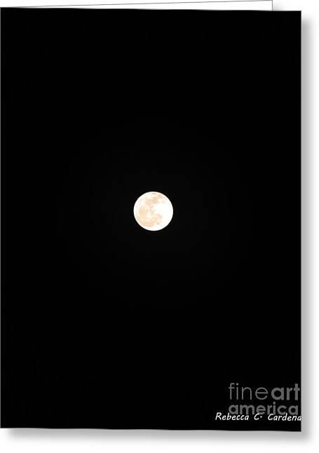 Lunar Beauty Greeting Card by Rebecca Christine Cardenas